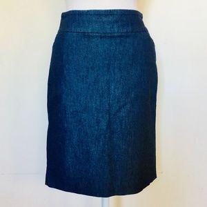 Dresses & Skirts - Navy Stretch Denim Pencil Skirt (6)
